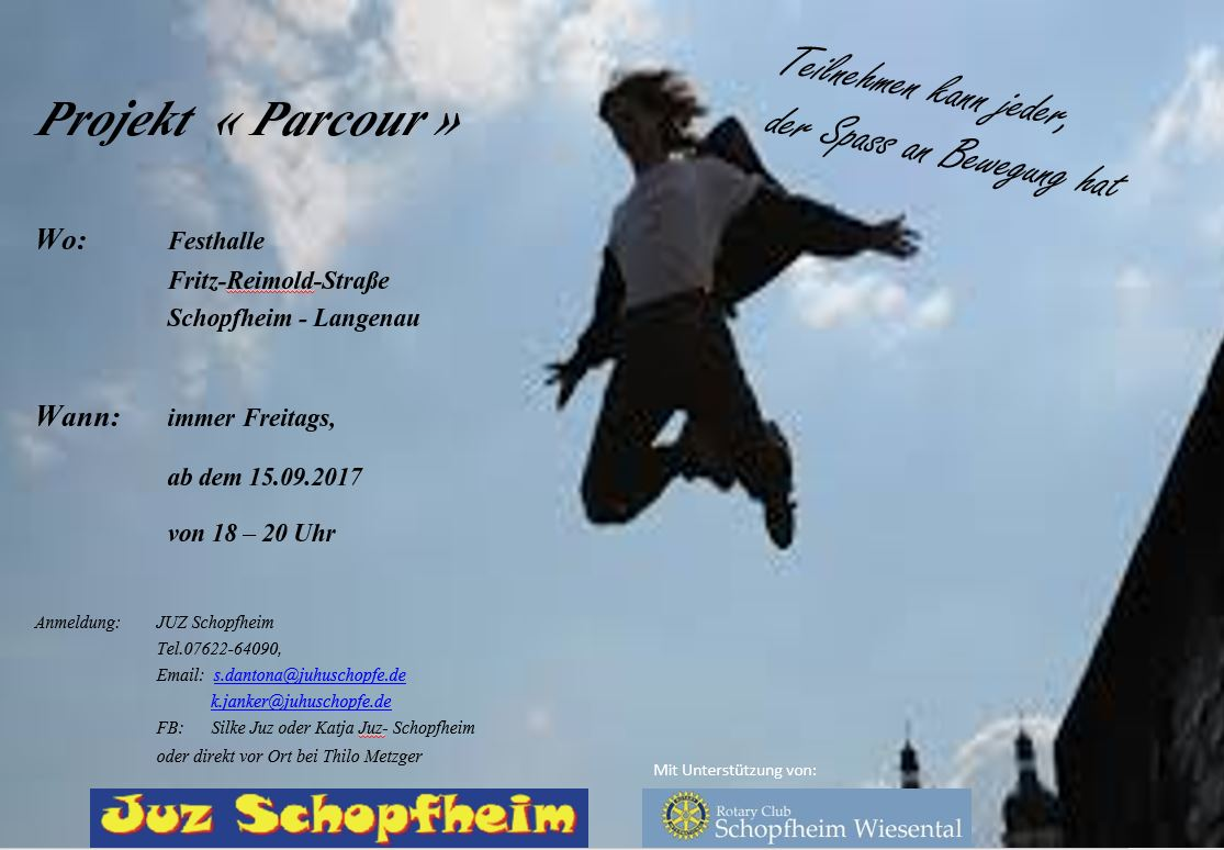 Parkour Flyer September 2017